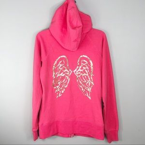 Victoria's Secret Pink Sequin Angel Wings Hoodie